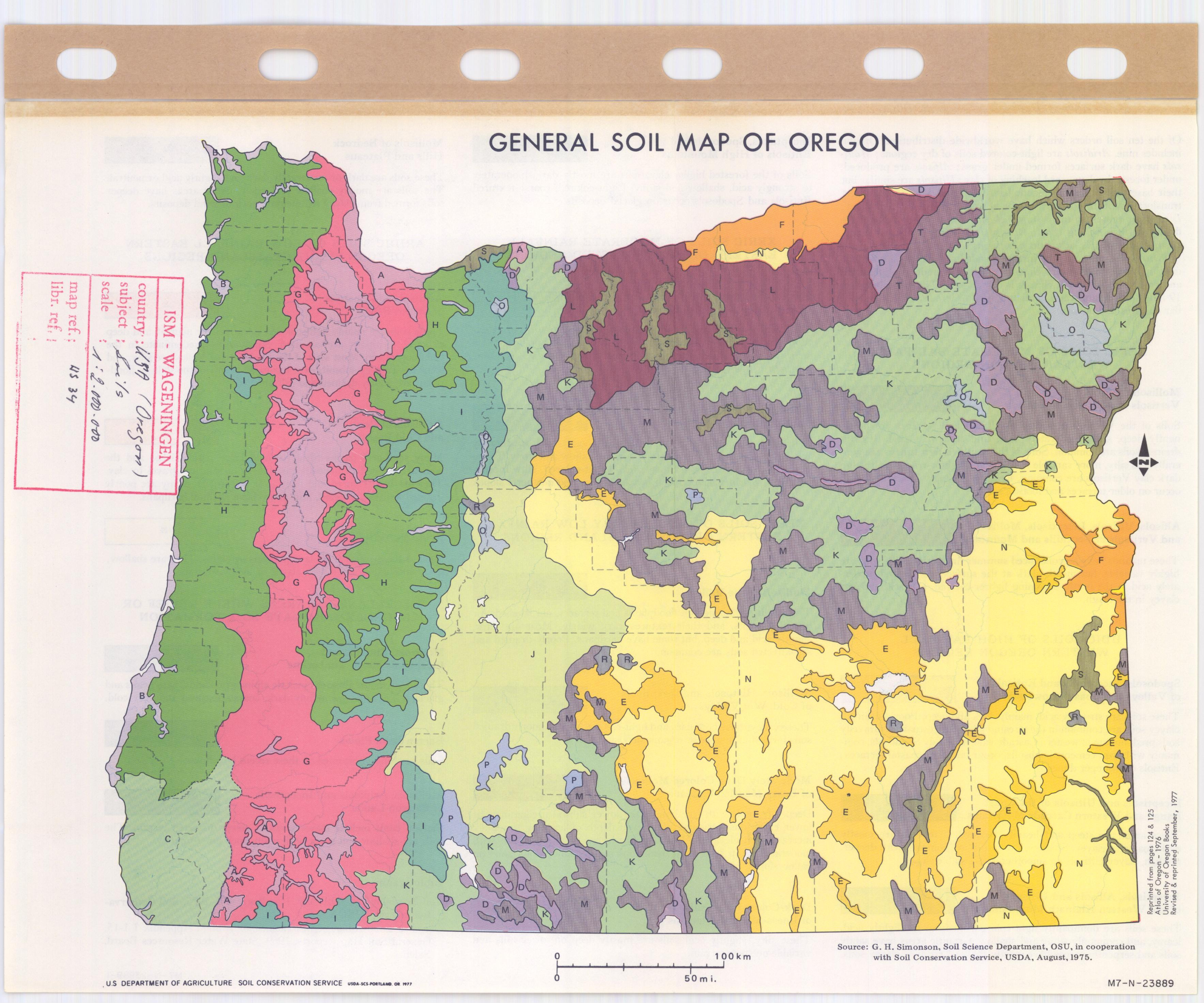 General Soil Map Of Oregon - ESDAC - European Commission