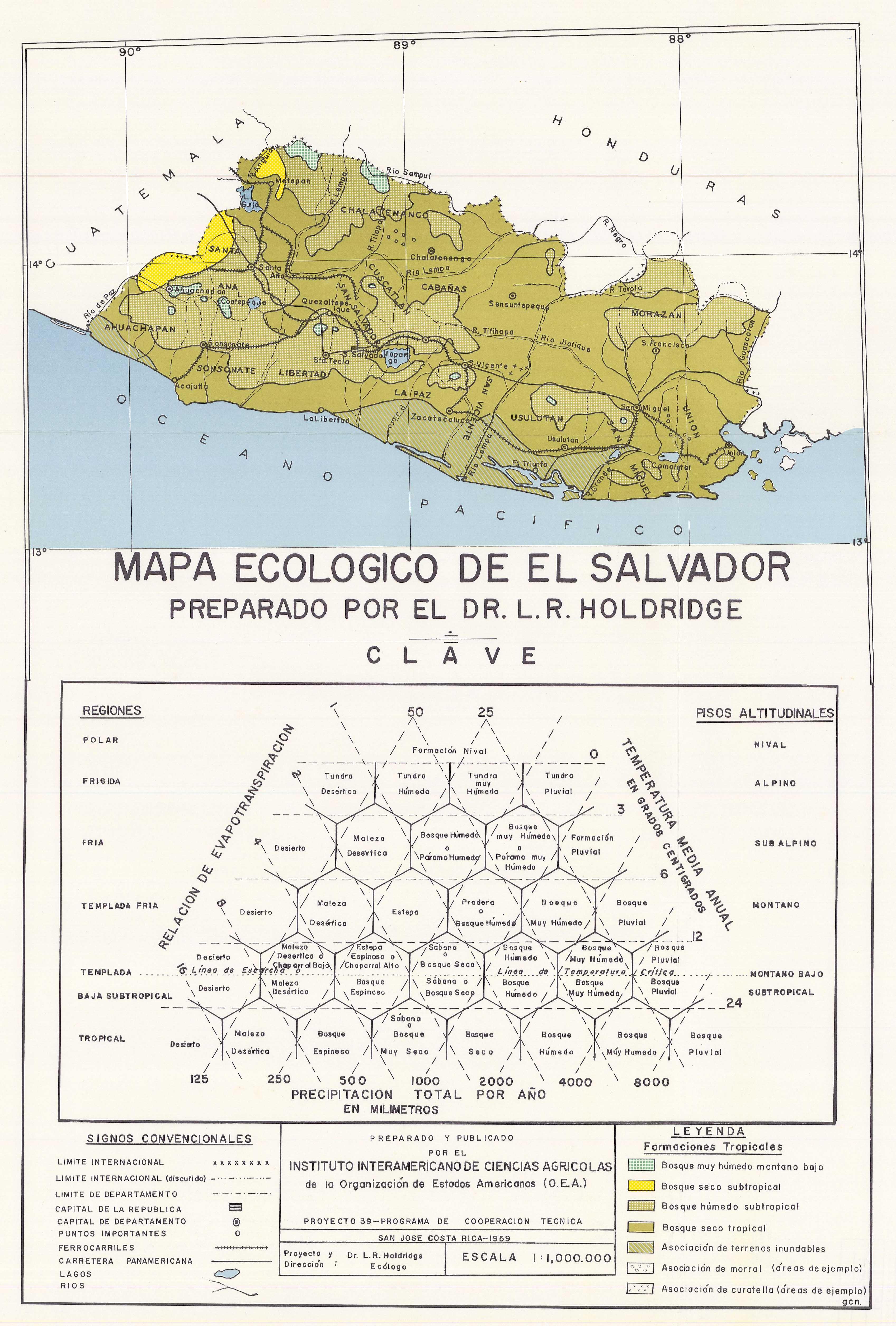 Mapa Ecologico Republica De El Salvador Esdac European Commission