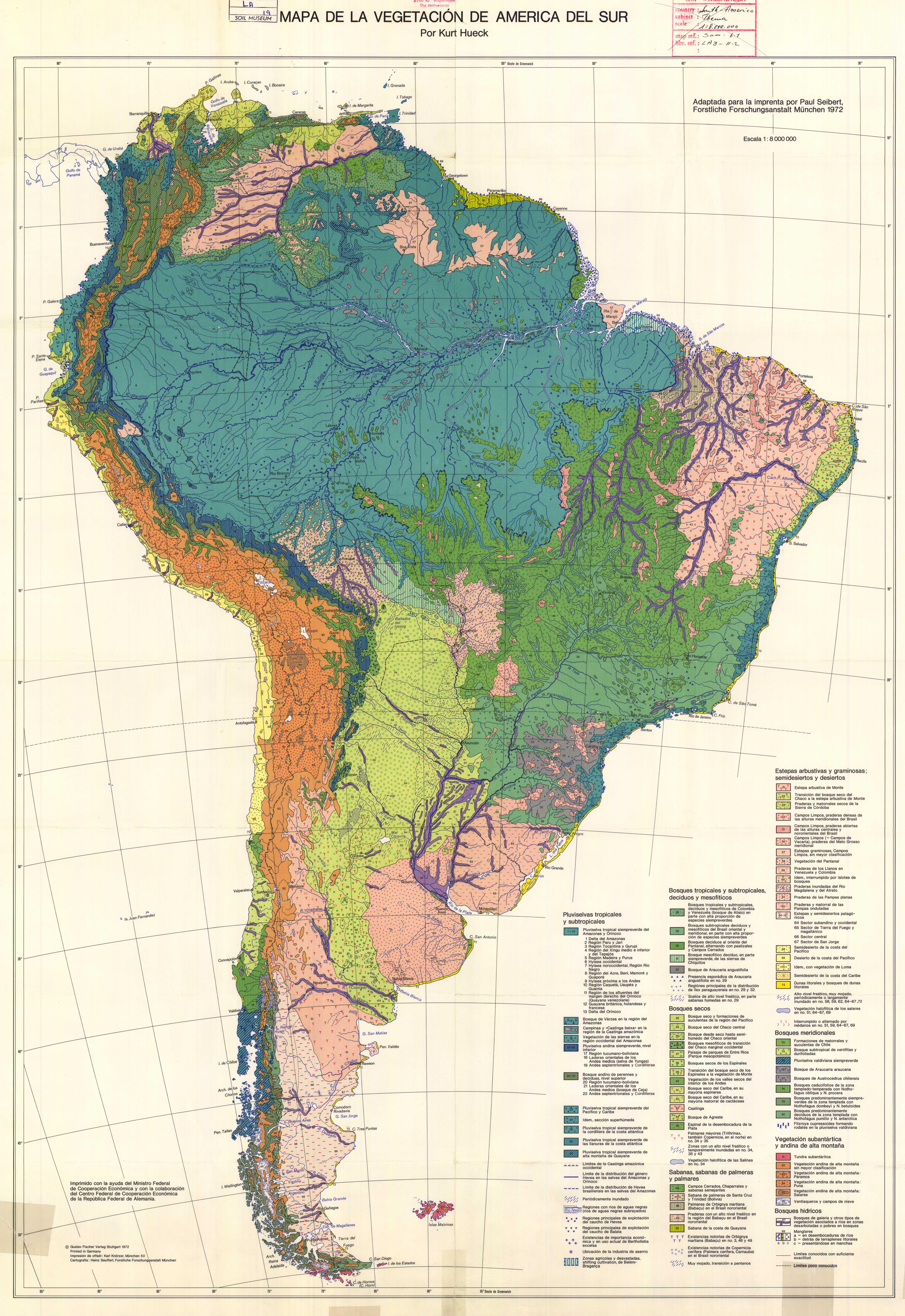 Mapa de la Vegetación de America Del Sur. - ESDAC - European Commission