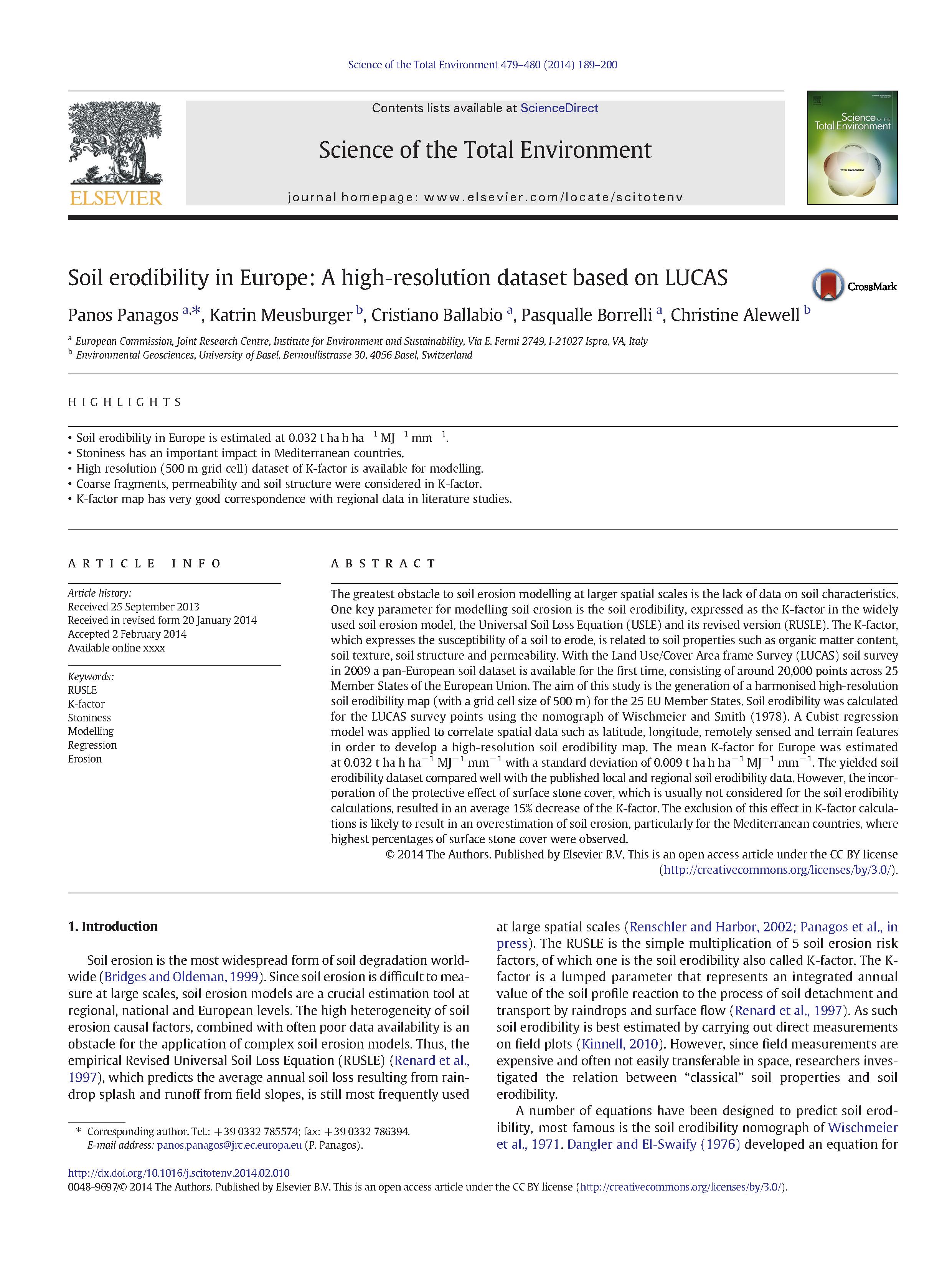 Soil erodibility k factor high resolution dataset for for Soil k factor