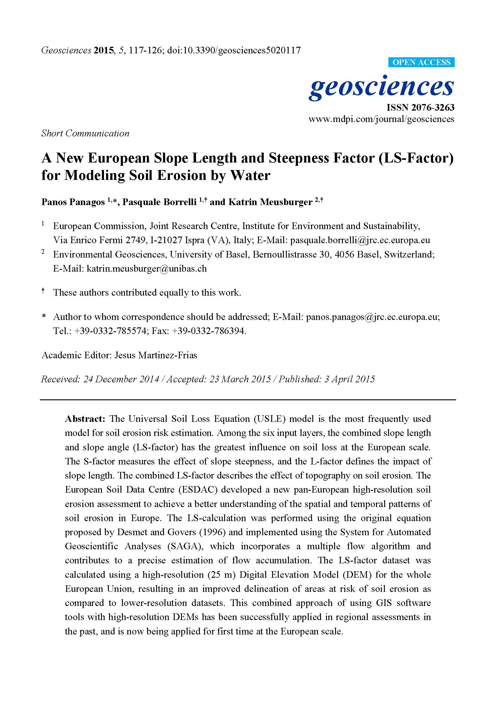 Soil erosion research paper