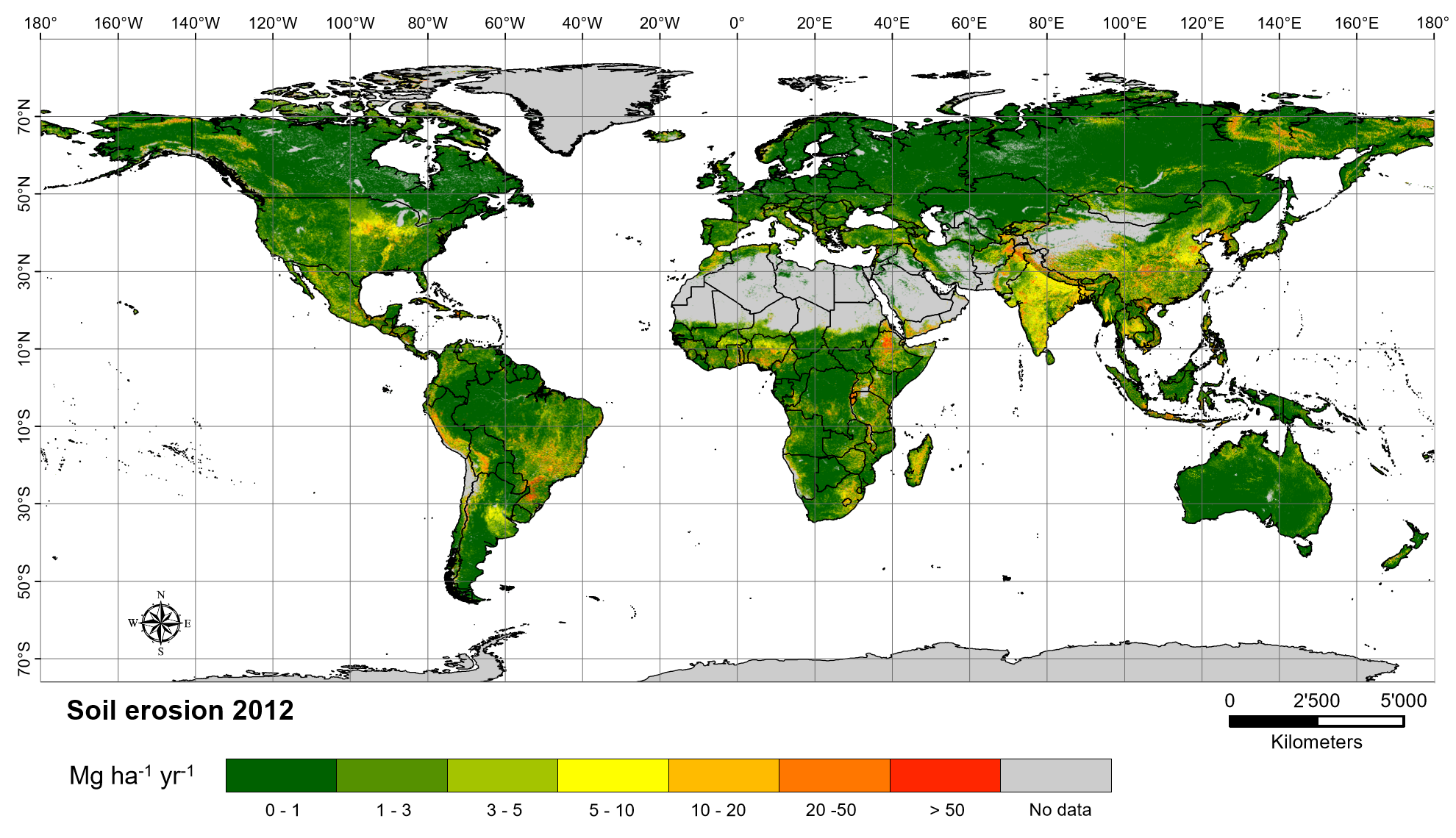 Global Soil Erosion   ESDAC   European Commission